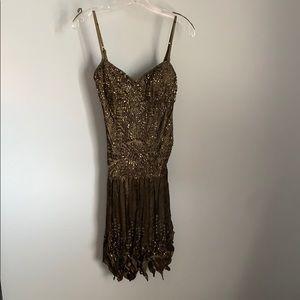 NWT! Sue Wong Ladies Olive Green Dress